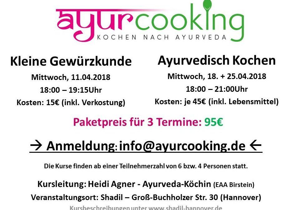 Neue Termine für ayurvedische Kochkurse in Hannover